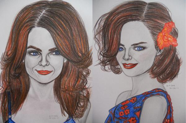 Lauren Graham, Alexis Bledel by dasee